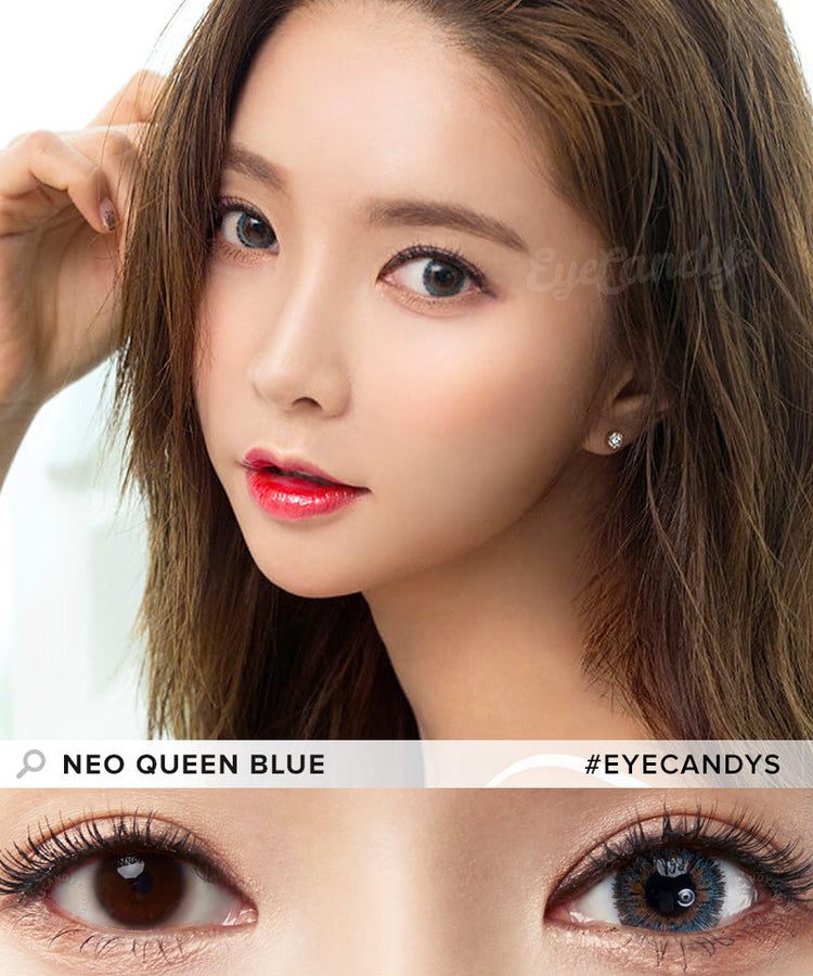 Buy NEO Queen 4 Tone Blue Colored Contacts | EyeCandys