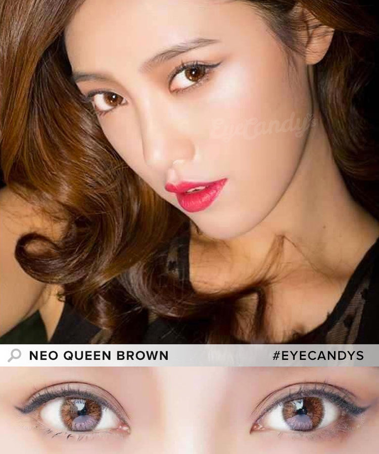 Buy NEO Queen 4 Tone Brown Colored Contacts | EyeCandys