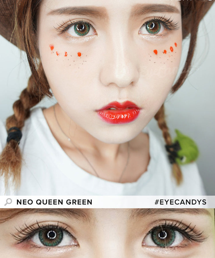 Buy NEO Queen 4 Tone Green Colored Contacts | EyeCandys