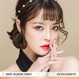 NEO Queen 4 Tone Grey colored contacts circle lenses - EyeCandy's