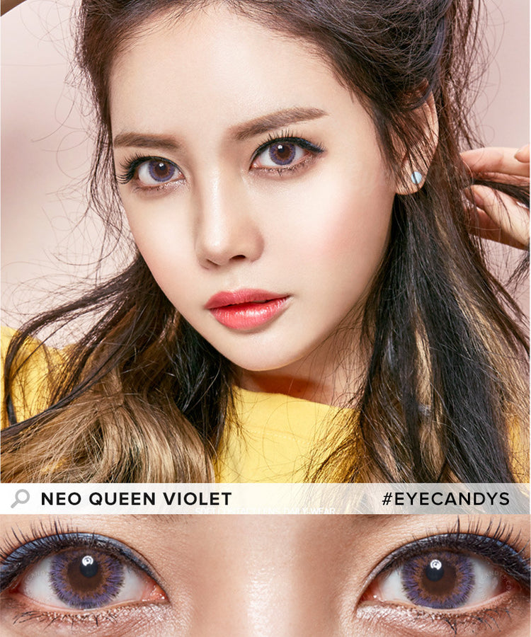 Buy NEO Queen 4 Tone Violet Colored Contacts | EyeCandys