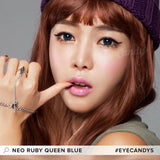 NEO Ruby Queen Blue colored contacts circle lenses - EyeCandy's