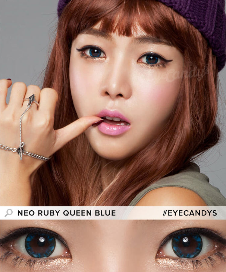 Buy NEO Ruby Queen Blue Colored Contacts | EyeCandys