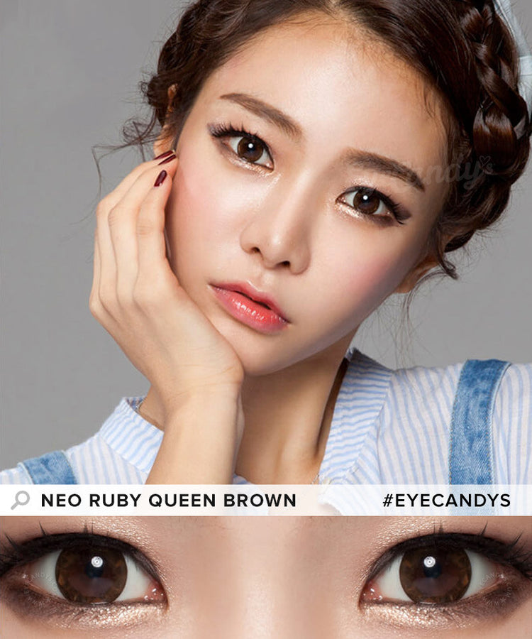 Buy NEO Ruby Queen Brown Colored Contacts | EyeCandys