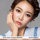 NEO Ruby Queen Brown 1 pair (2 lenses) - EyeCandy's