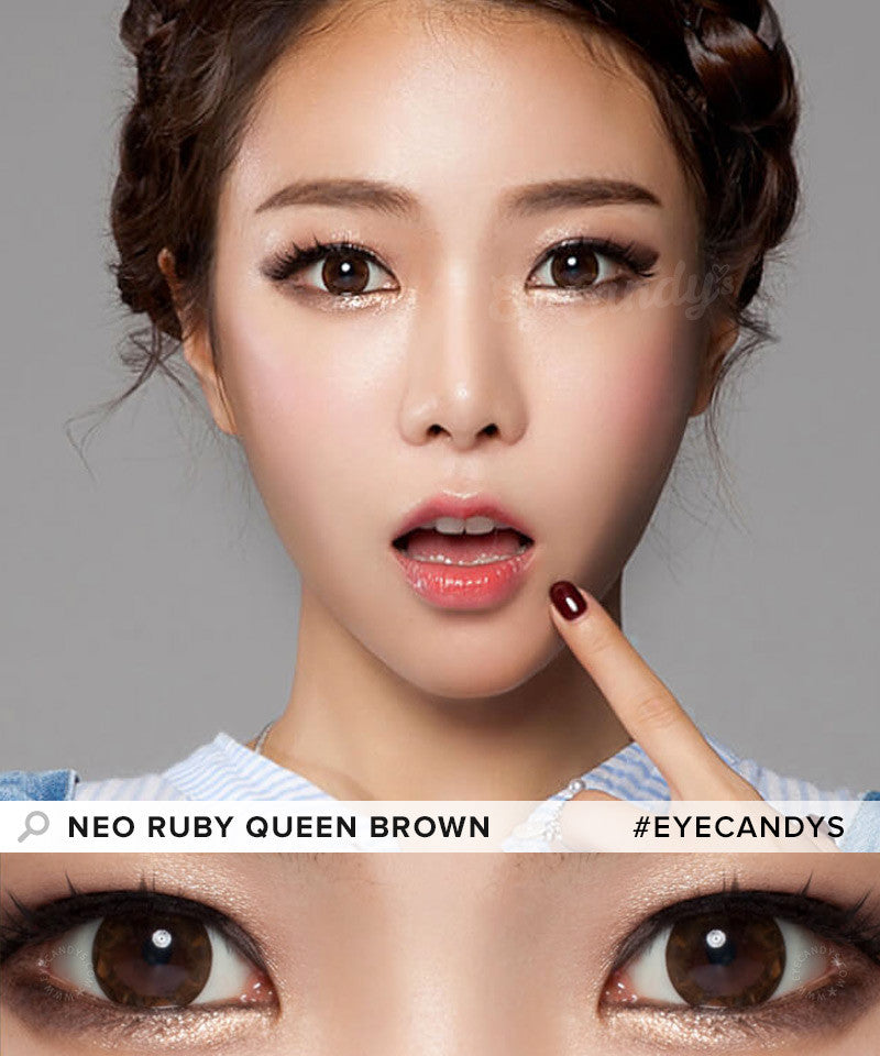 Buy NEO Ruby Queen Brown Colored Contacts for Astigmatism | EyeCandys