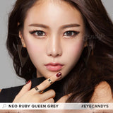 NEO Ruby Queen Grey colored contacts circle lenses - EyeCandy's