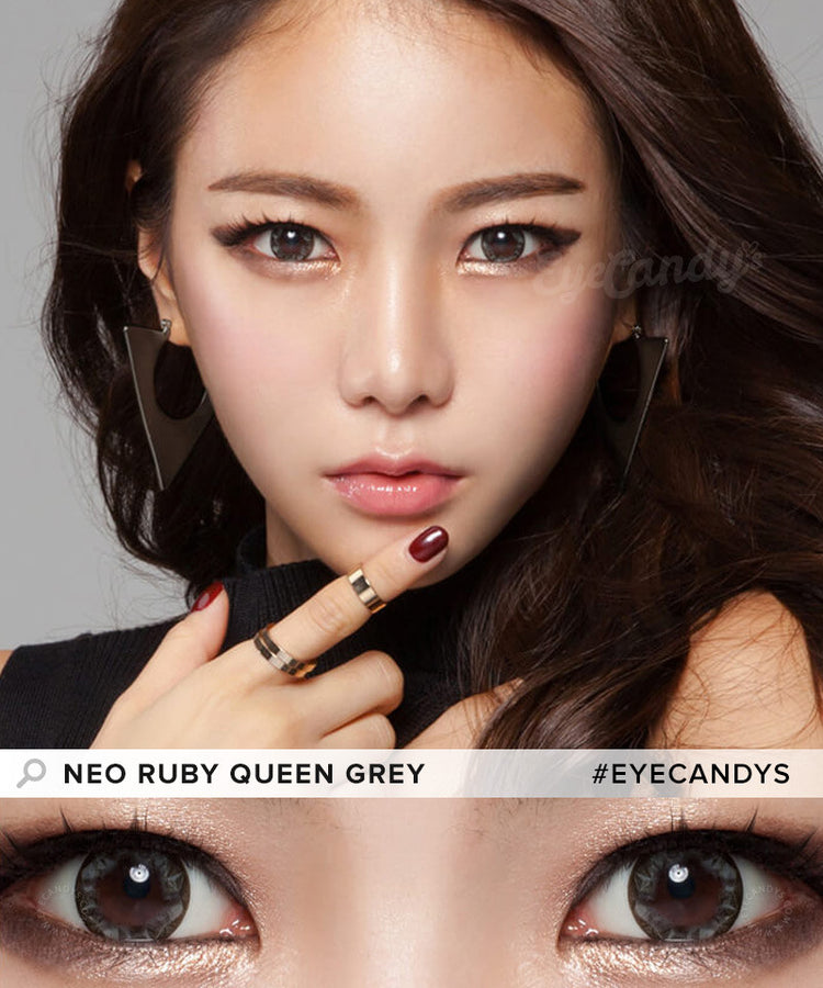 Buy NEO Ruby Queen Grey Colored Contacts for Astigmatism | EyeCandys