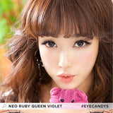 NEO Ruby Queen Violet colored contacts circle lenses - EyeCandy's