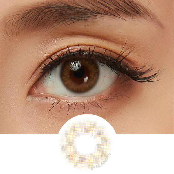 EyeCandys Opal Brown colored contacts circle lenses - EyeCandy's