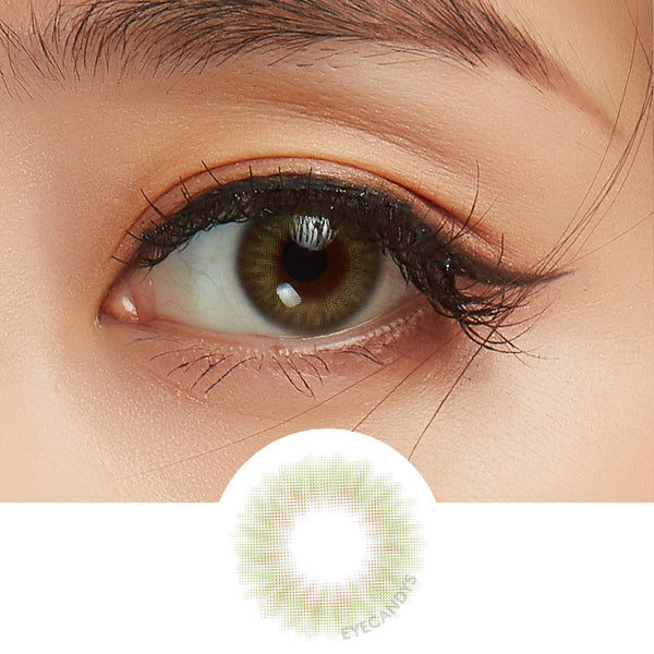 EyeCandys Opal Green colored contacts circle lenses - EyeCandy's