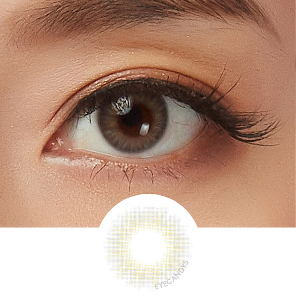 EyeCandys Opal Grey colored contacts circle lenses - EyeCandy's