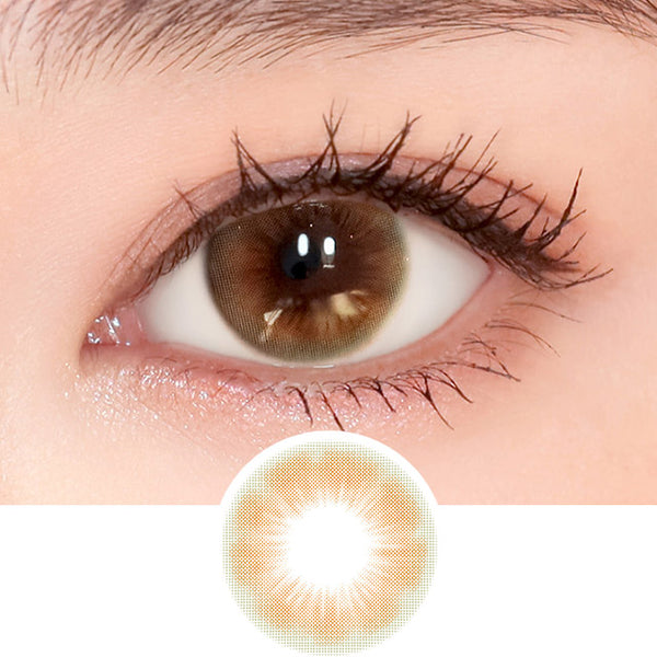 i-DOL Sugar Pasteli Baby Brown colored contacts circle lenses - EyeCandy's