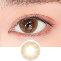 i-DOL Sugar Pasteli City Brown colored contacts circle lenses - EyeCandy's