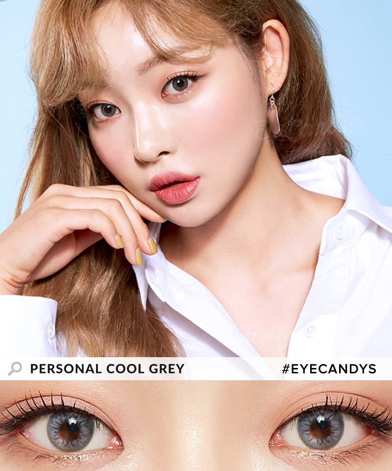 Lenstown Personal Cool Grey colored contacts circle lenses - EyeCandy's