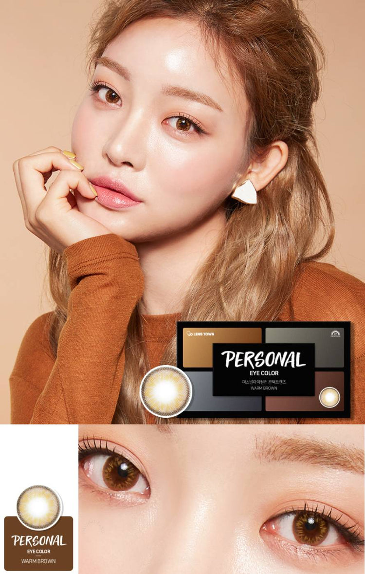 Buy Lenstown Personal Warm Brown Colored Contact Lens | EyeCandys