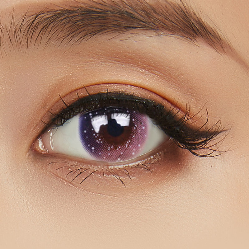 EyeCandys Pink Label Galaxy Pink colored contacts circle lenses - EyeCandy's