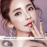 Load image into Gallery viewer, EyeCandys Pink Label Galaxy Pink colored contacts circle lenses - EyeCandy's