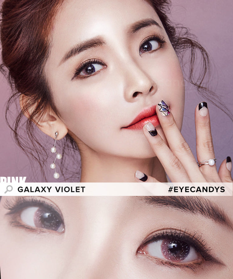 Buy EyeCandys Pink Label Galaxy Pink Colored Contacts | EyeCandys