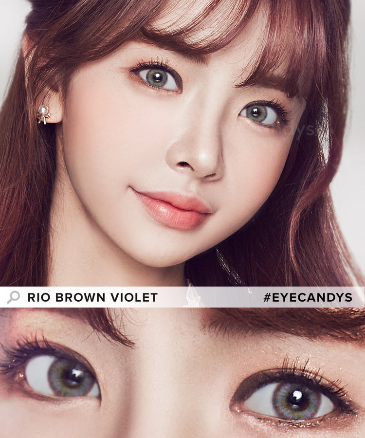 Buy EyeCandys Rio Brown Purple Color Contacts | EyeCandys