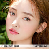 i-DOL Roze Airy Beige Brown colored contacts circle lenses - EyeCandy's