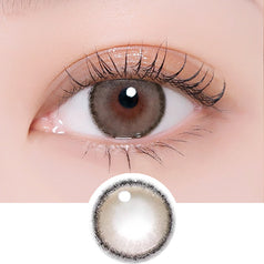 i-DOL Roze Airy Nude Brown colored contacts circle lenses - EyeCandy's
