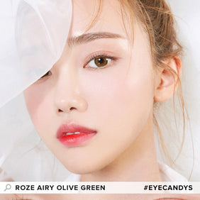 i-DOL Roze Airy Olive Green colored contacts circle lenses - EyeCandy's