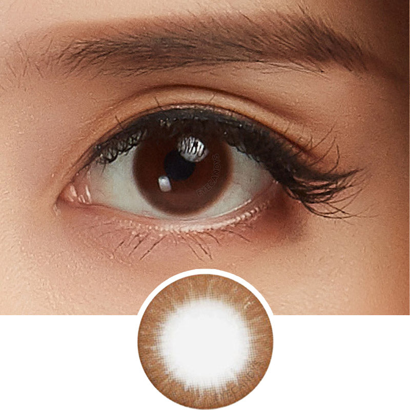 EyeCandys Silk Choco Brown colored contacts circle lenses - EyeCandy's