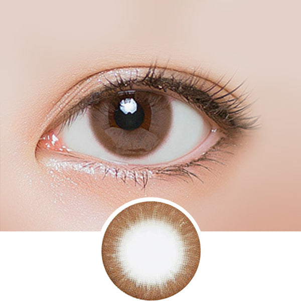 EyeCandys Silk Choco colored contacts circle lenses - EyeCandy's