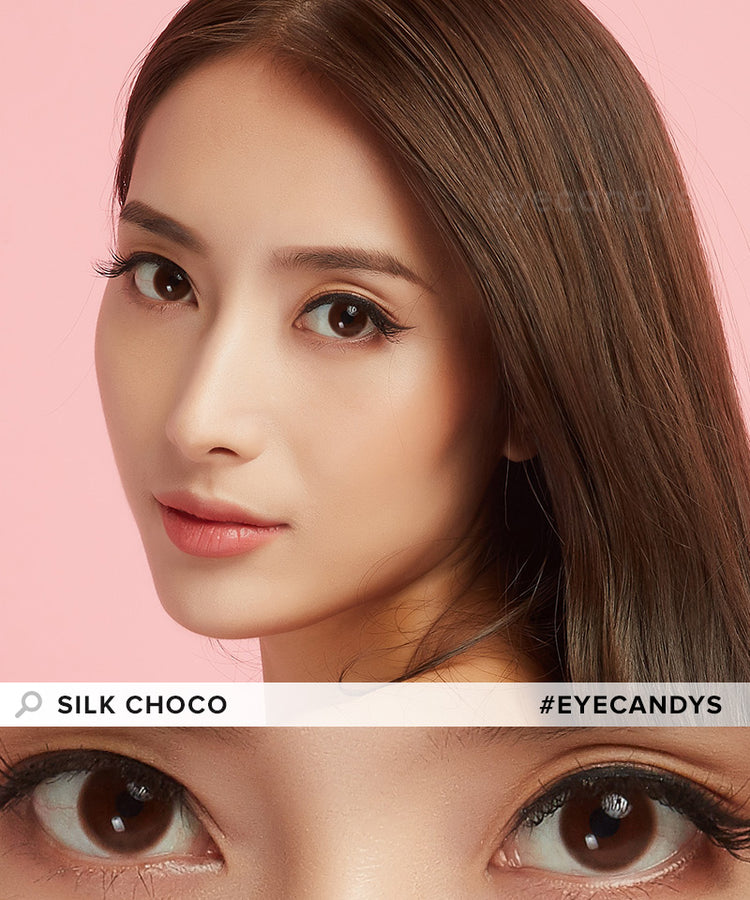 Buy EyeCandys Silk Choco Brown Circle Lenses | EyeCandys
