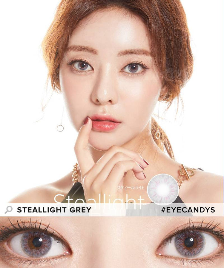 Buy Lenstown Steallight Grey Colored Eye Contacts | EyeCandys