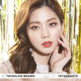 Lenstown Twinklow Brown colored contacts circle lenses - EyeCandy's