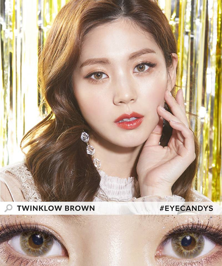 Buy Lenstown Twinklow Brown Colored Eye Contacts | EyeCandys