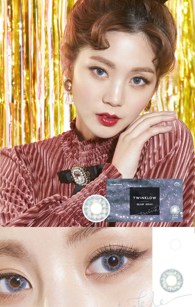 Lenstown Twinklow Grey colored contacts circle lenses - EyeCandy's