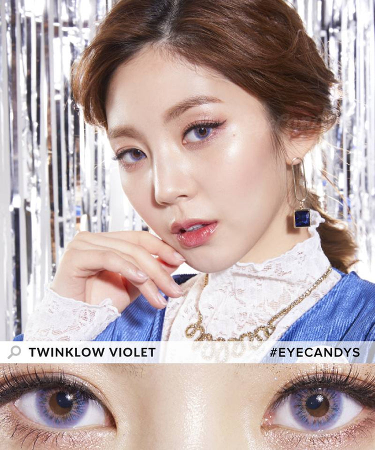 Buy Lenstown Twinklow Violet Colored Eye Contacts | EyeCandys