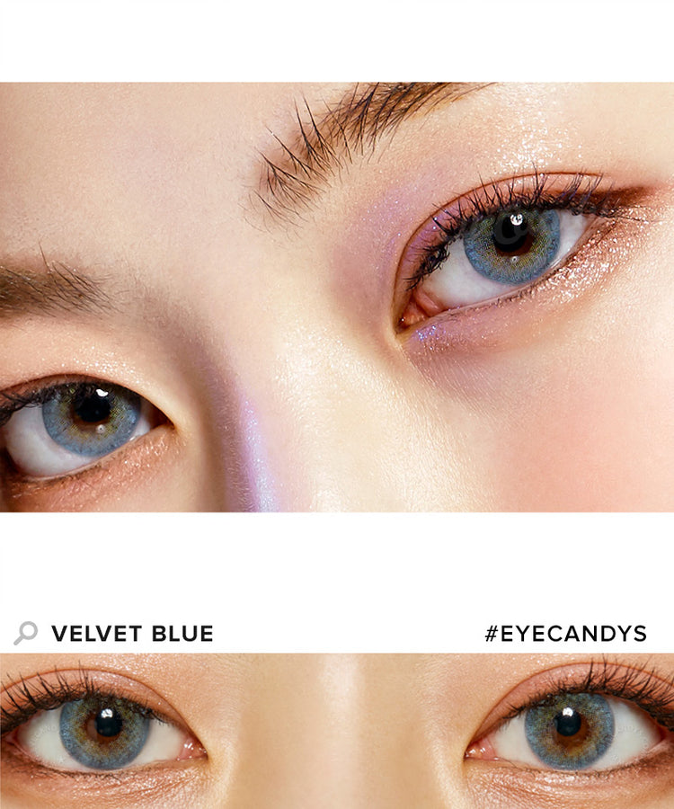 Buy Royal Vision Velvet Blue Colored Contacts | EyeCandys