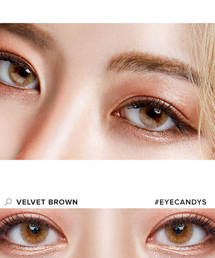 buy royal vision velvet brown colored contacts eyecandys