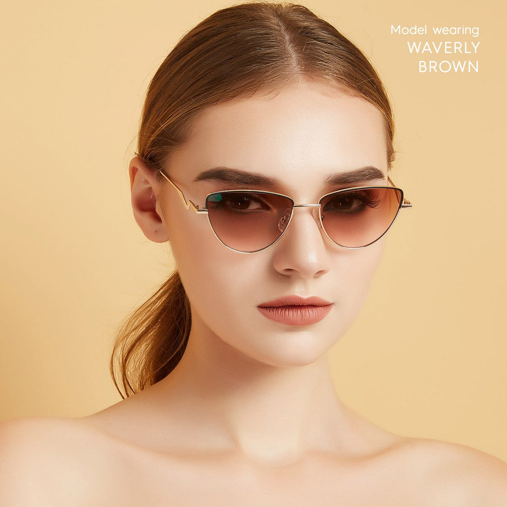 Waverly Cat Eye Sunglasses colored contacts circle lenses - EyeCandy's