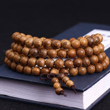 NATURAL WOODEN PRAYER MALA BEADS