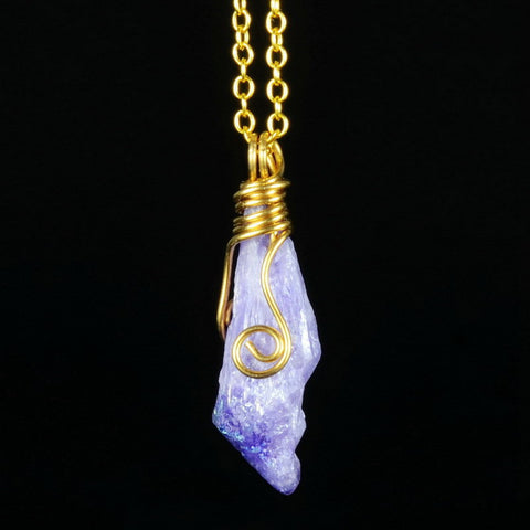 Natural Stone Pendant Necklace