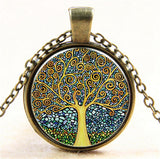 Tree of Life Cabochon Bronze Glass pendant