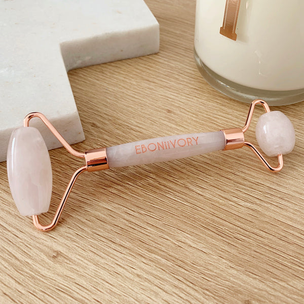 Facial Roller- Rose Quartz