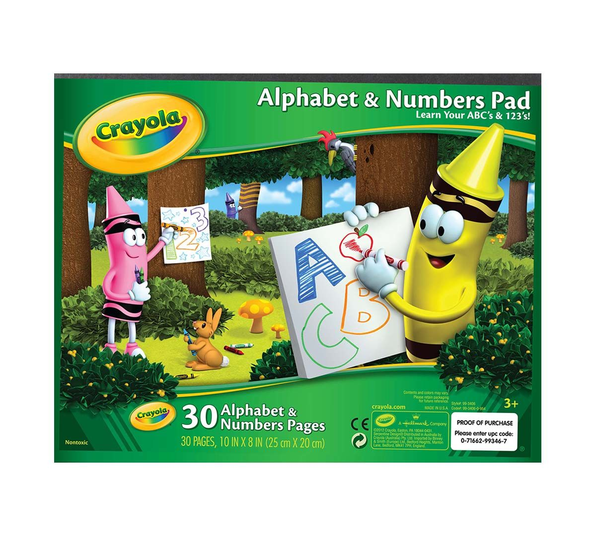 Crayola Alphabet and Numbers Pad