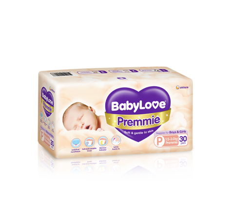 Babylove Premmie nappies (30 pack x 4)