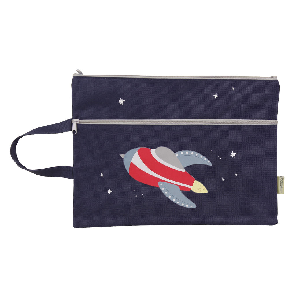 Kids & Children A4 Pencil Case Rocket - Bobble Art