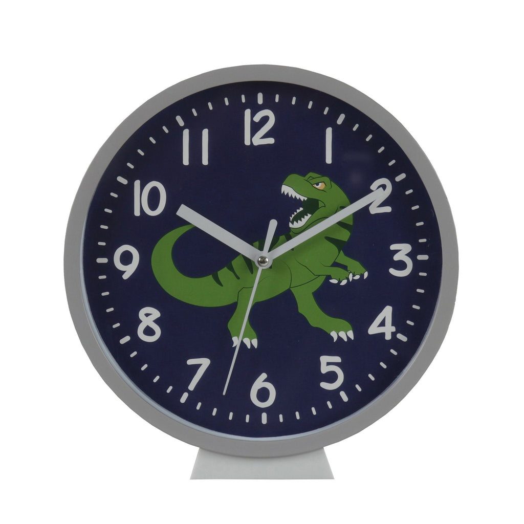 Kids & Children Wall Clock Dinosaur - Bobble Art