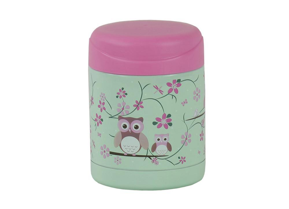 s/steel food container owl sample