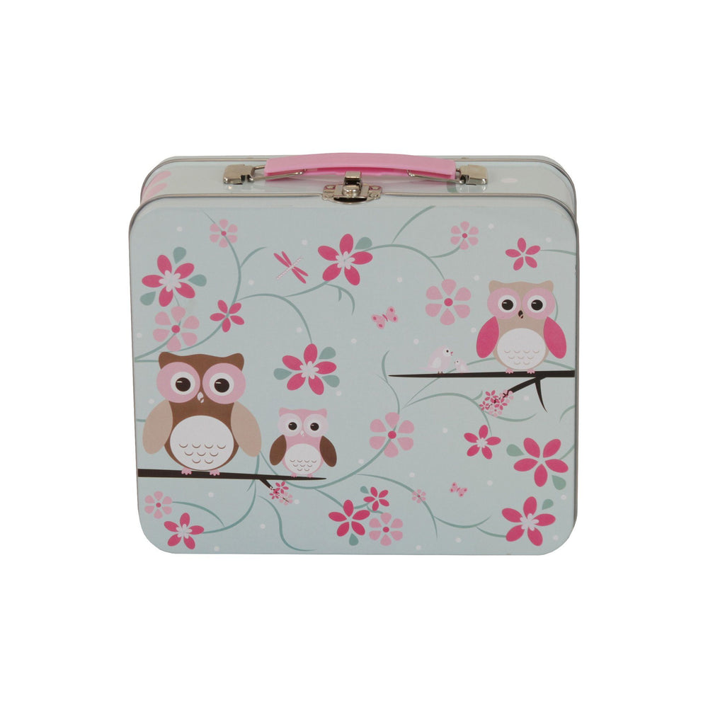 Kids & Children Tin Suitcase Owl - Bobble Art