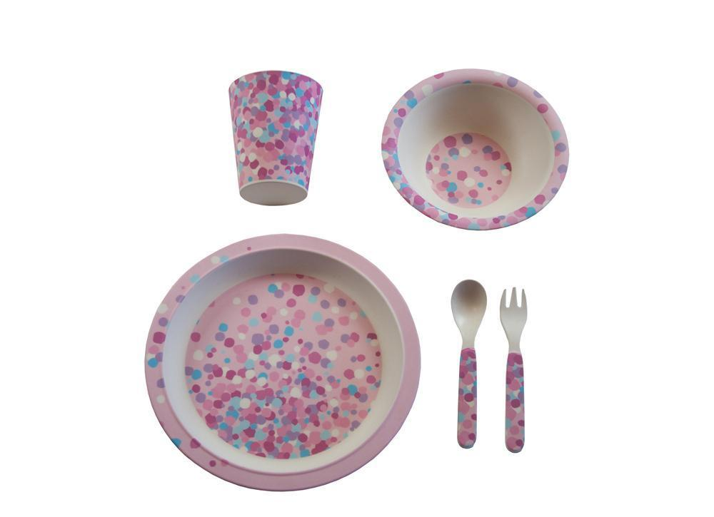 bamboo tableware confetti sample