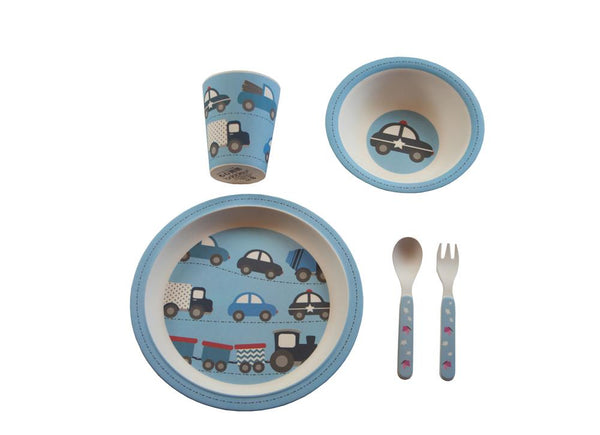 Kids & Children Bamboo Tableware Cars - Bobble Art